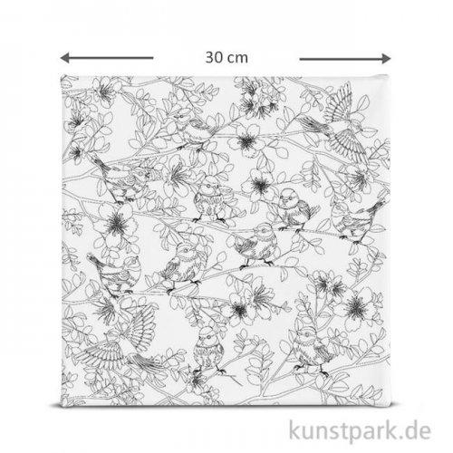 Motiv-Keilrahmen Vögelchen, 30x30 cm
