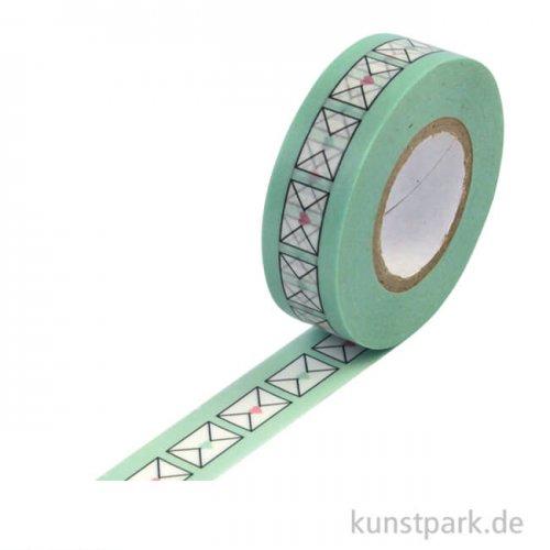 Motiv-Klebeband Washi Tape - Briefumschläge, 15 mm, Rolle 15m