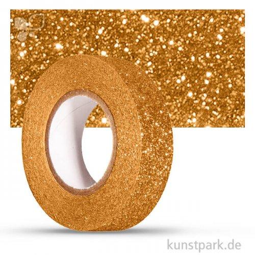 Motiv-Klebeband Washitape - Glitter - 15 mm 5 m Rolle | Gold