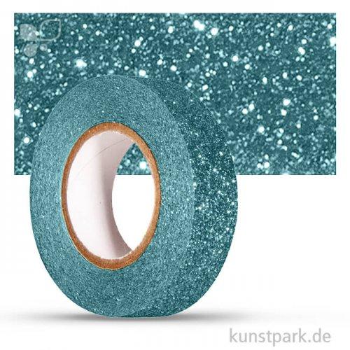 Motiv-Klebeband Washitape - Glitter - 15 mm 5 m Rolle | Lagune