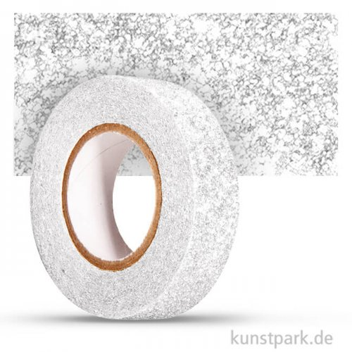 Motiv-Klebeband Washitape - Glitter - 15 mm - 5 m Rolle 5 m Rolle | Weiß