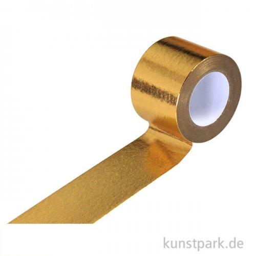 Motiv-Klebeband Washitape - Metallic Gold, 30 mm, 10 m Rolle
