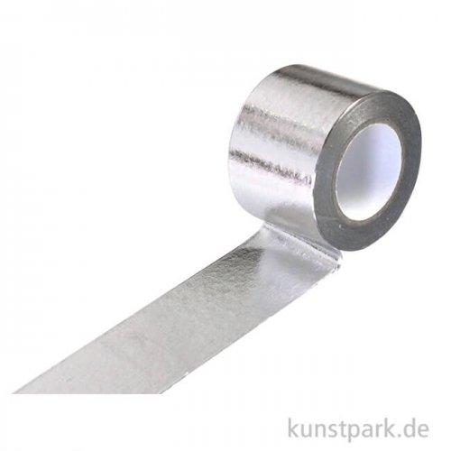 Motiv-Klebeband Washitape - Metallic Silber, 30 mm, 10 m Rolle