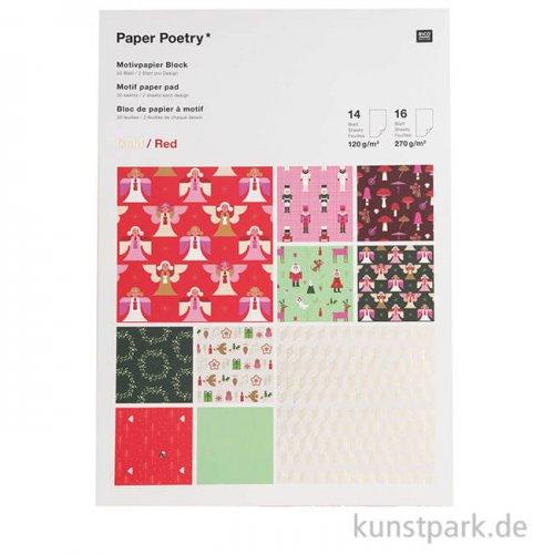 Motivpapier Block - Christmas is in the Air, 30 Blatt
