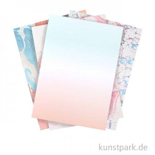 Motivpapier Block - Marmoriert, 30 Blatt