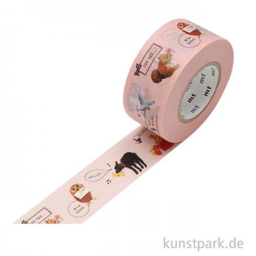 MT Masking Tape Animals, 25 mm, 15 m Rolle