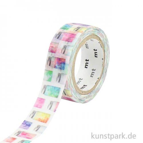 MT Masking Tape Colorful Jar, 15 mm, 7 m Rolle
