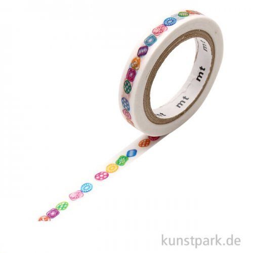 MT Masking Tape Drops Linie, 7 mm, 7 m Rolle