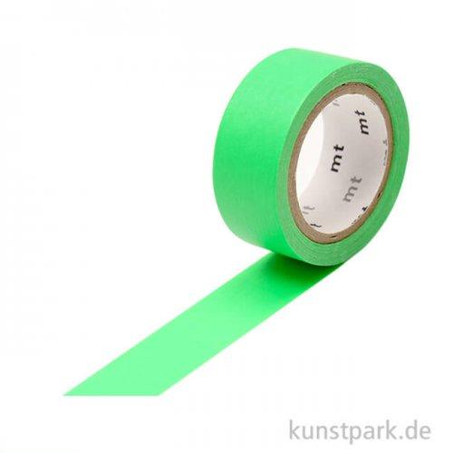 MT Masking Tape Fab Flourescent Green, 15 mm, 5 m Rolle