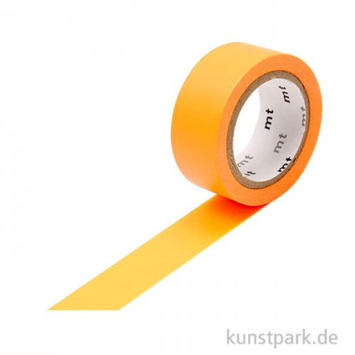 MT Masking Tape Fab Flourescent Orange, 15 mm, 5 m Rolle