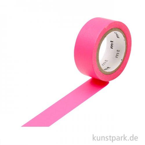 MT Masking Tape Fab Flourescent Pink, 15 mm, 5 m Rolle