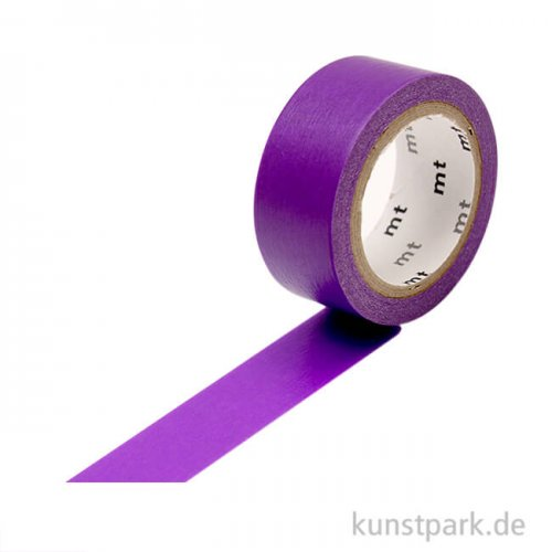 MT Masking Tape Fab Flourescent Purple, 15 mm, 5 m Rolle
