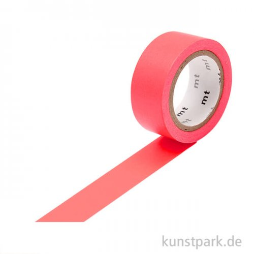 MT Masking Tape Fab Flourescent Red, 15 mm, 5 m Rolle