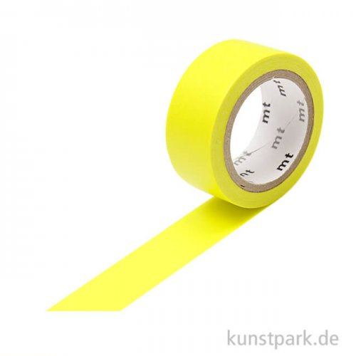 MT Masking Tape Fab Flourescent Yellow, 15 mm, 5 m Rolle