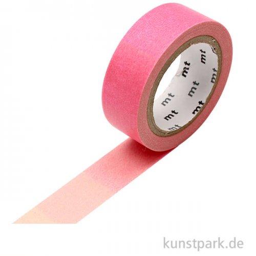 MT Masking Tape Fluo Abstufung Pink und Grün, 15 mm, 7 m Rolle