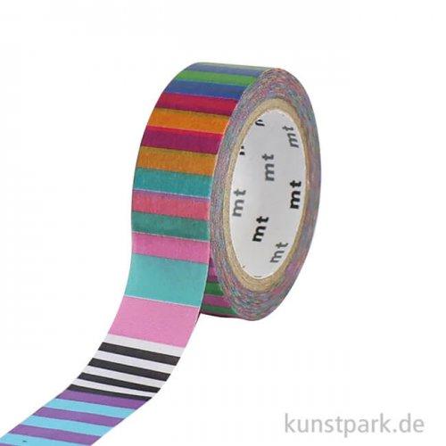 MT Masking Tape Kapitza Candy Stripe, 15 mm, 7 m Rolle
