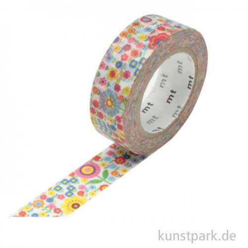 MT Masking Tape Mini Flower Garden - 15 mm, 10 m Rolle