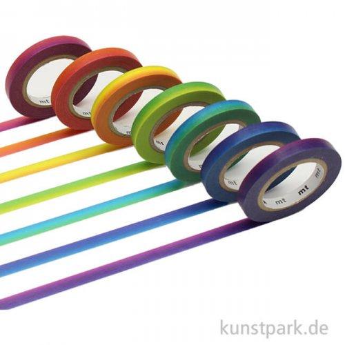 MT Masking Tape Rainbow Set mit 7 x 6 mm x 10 m