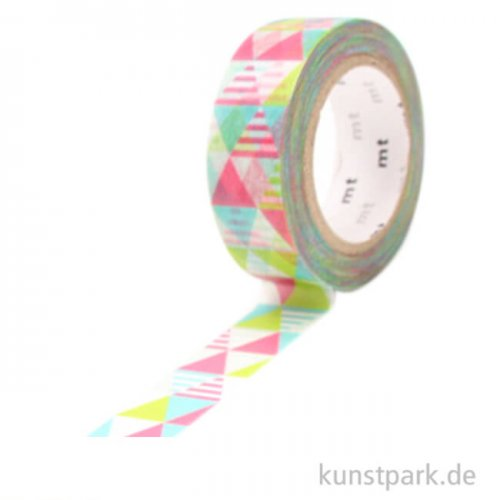 MT Masking Tape Shimasankaku pink - 15 mm, 10 m Rolle