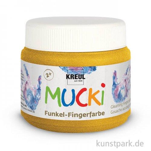 MUCKI Funkel-Fingerfarbe 150 ml 150 ml | Goldschatz