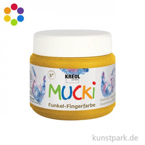 MUCKI Funkel-Fingerfarbe 150 ml