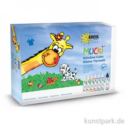 MUCKI Window Color Pen Set 7 x 29 ml - Kleine Tierwelt
