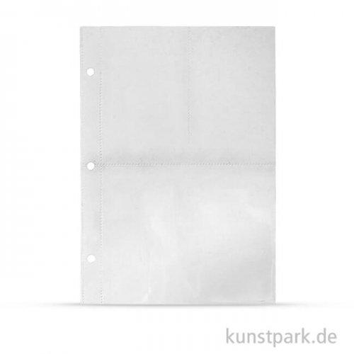 My Planner - Kunststoffhülle mit 3 Fächern, DIN A5, 4 Stück