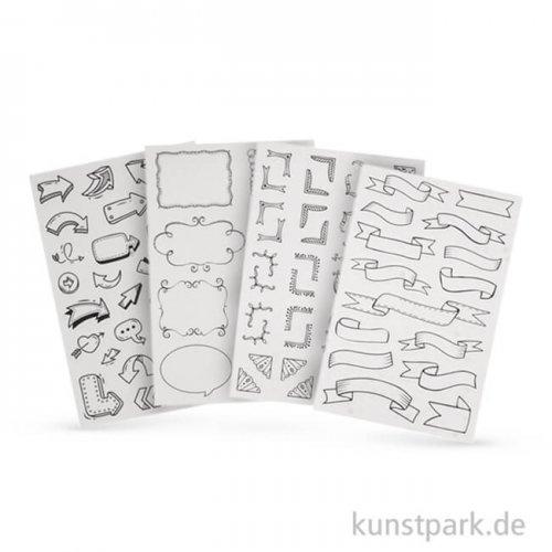 My Planner - Sticker Labels, 4 Blatt sortiert
