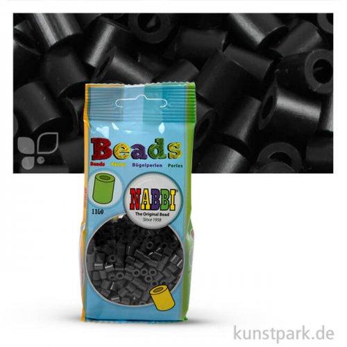 Nabbi Bügelperlen - 1100 Stück, 5x5 mm 2,5 mm   Schwarz