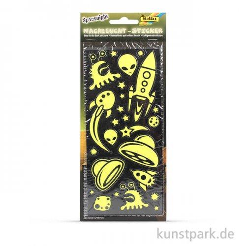 Nachtleucht-Sticker - Spacenight, 10 x 23 cm, 2 Blatt sortiert