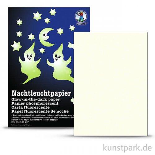 Nachtleuchtpapier, 22x31 cm, 2 Blatt