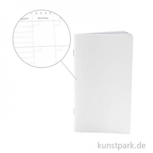 Notizblock für Planer - Ewigkeitskalender, Größe 9,5x16,6 cm, 34 Seiten