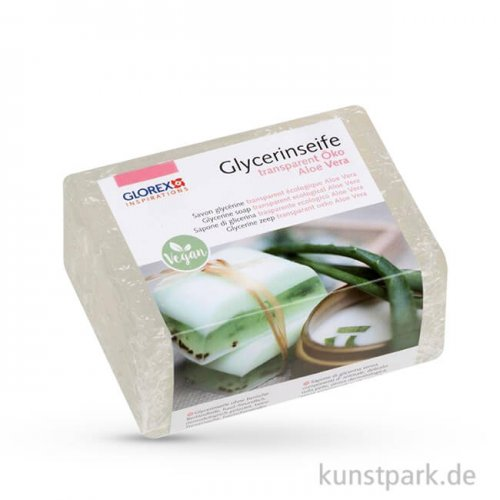 Aloe Vera - Öko Glycerin-Seife - transparent 500 g