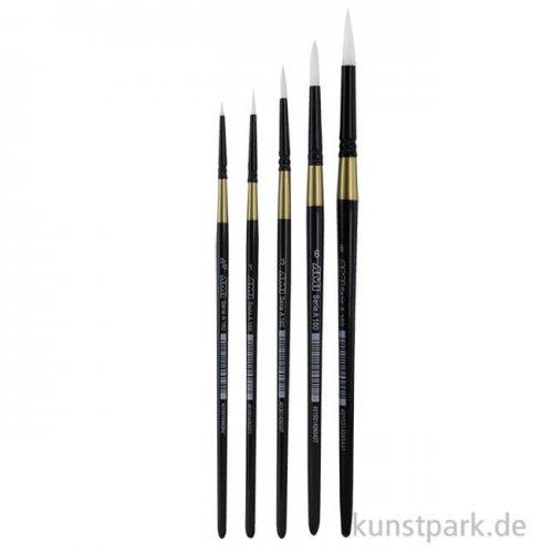 Öl- und Acrylmalpinselset A160, 5 runde Pinsel