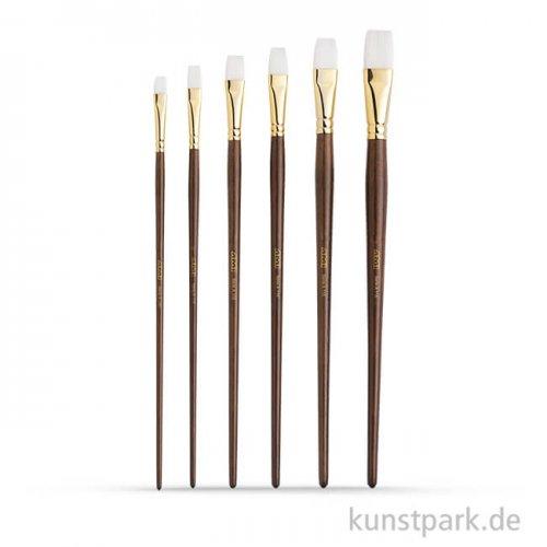 Öl- und Acrylmalpinselset A115, 6 Flachpinsel
