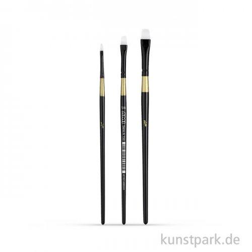 Öl- und Acrylmalpinselset A150, 3 Flachpinsel