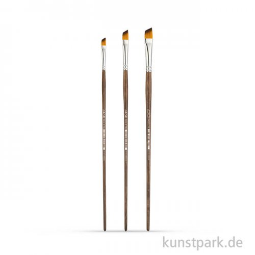 Öl- und Acrylmalpinselset A165, 3 Eckmalpinsel