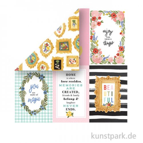 Oh Happy Day Scrappapier - 4X6 Journaling Cards