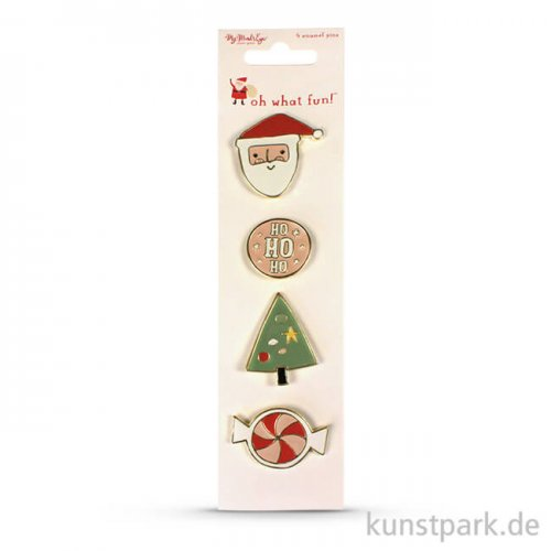 Oh What Fun Collection - Emaille Pins, 4 Stück
