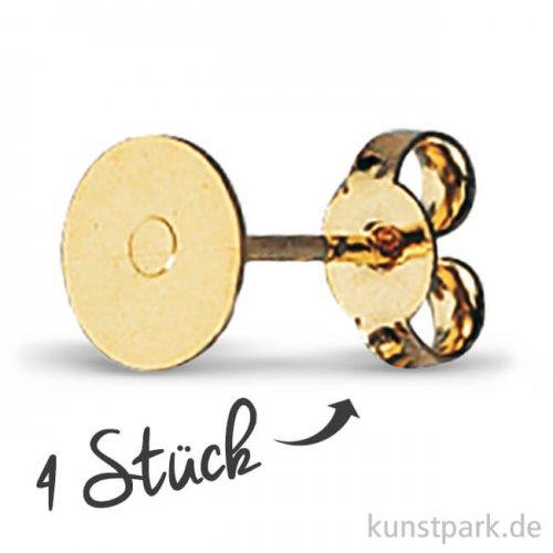 Ohrstecker mit Platine, 6 mm, 4 Stück