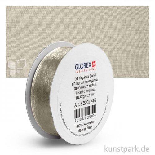 Organza-Band - 25 mm Breite - 5 m Länge 5 m | Creme