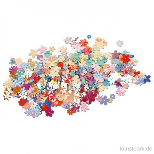 Paillettenmischung - Blumen Pastellfarben, 5-20 mm, 10 g sortiert