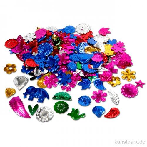 Paillettenmischung - Super-Mix, kräftige Farben, 15-45 mm, 35 g sortiert