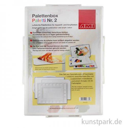 Palettenbox für Acrylfarbe, luftdicht, Farbe ablösbar