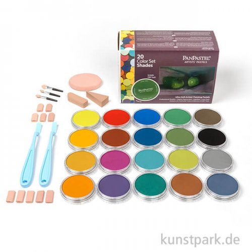 PanPastel Set mit 20 Farben - Dunkle Töne