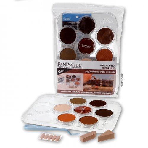PanPastel Set mit 7 Farben - Modellbau Rost u. Erde