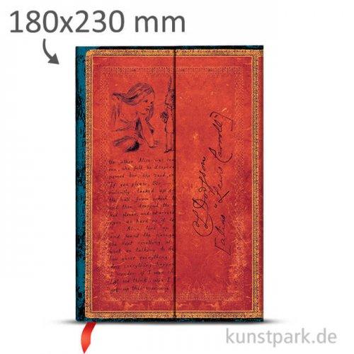 PAPERBLANKS Notizbuch - Lewis Caroll - Alice im Wunderland - Blanko 180 x 230 mm