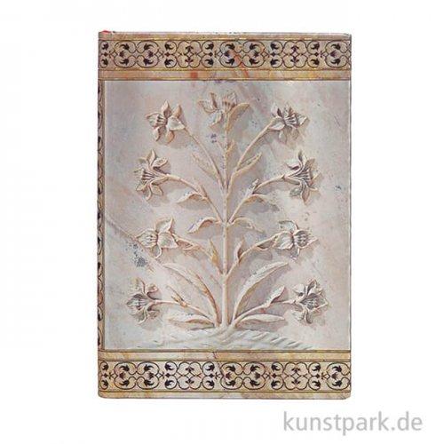 PAPERBLANKS Notizbuch - Blumen des Taj Mahal - Agra, 95 x 140 mm