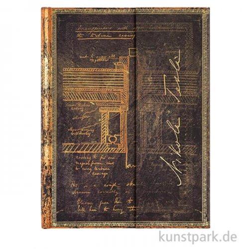 PAPERBLANKS Notizbuch - Faszinierende Handschriften - Tesla - Blanko 180 x 230 mm - 120 g
