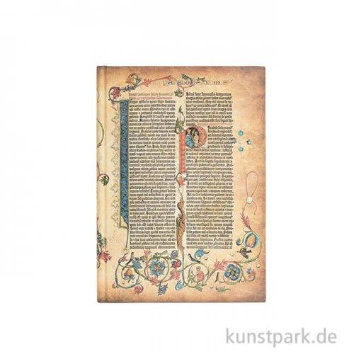 PAPERBLANKS Notizbuch - Gutenberg-Bibel - Parabola - Blanko 100 x 140 mm - 85 g